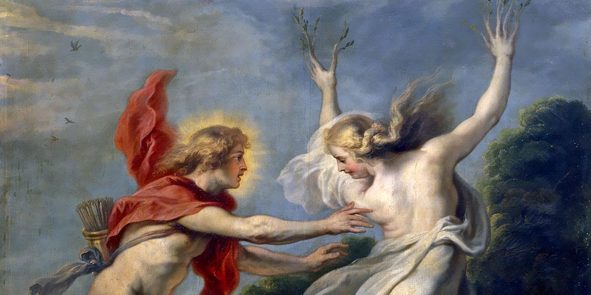 Apolo persiguiendo a Dafne. Cornelis de Vos