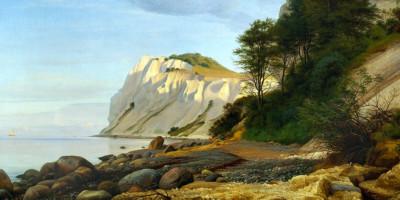 View of the Cliffs of Møn. Peter Christian Skovgaard