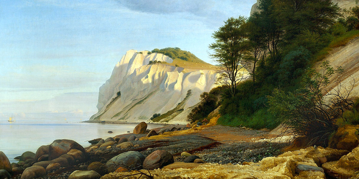 View of the Cliffs of Møn. Peter Christian Skovgaard