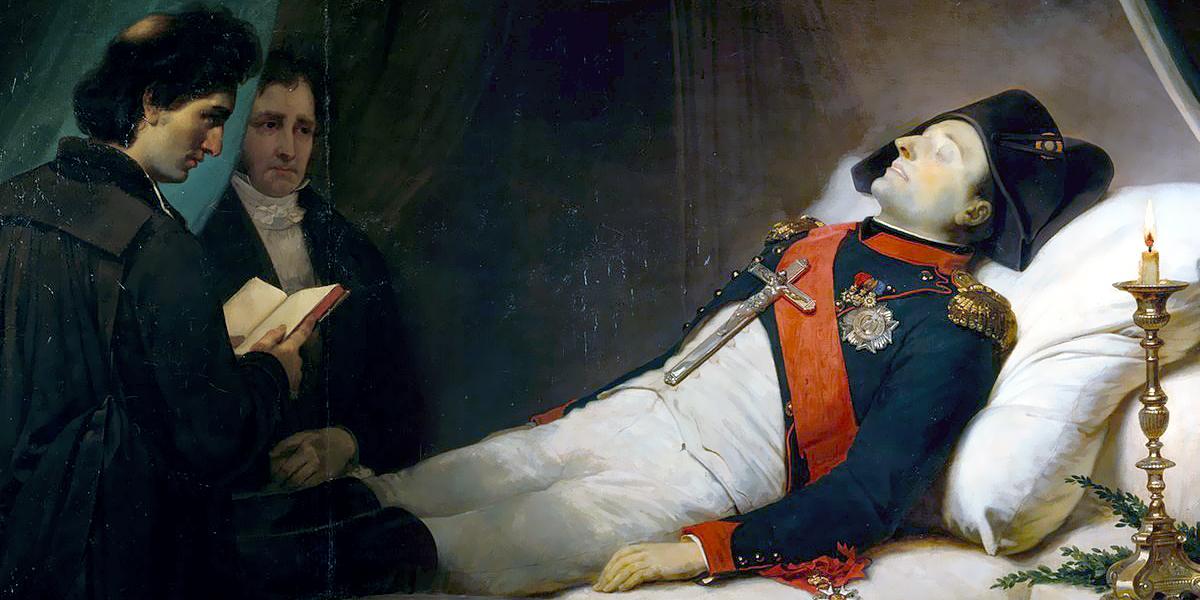 Napoleon Bonaparte on his deathbed by Mauzaisse Jean-Baptiste (1784-1844)