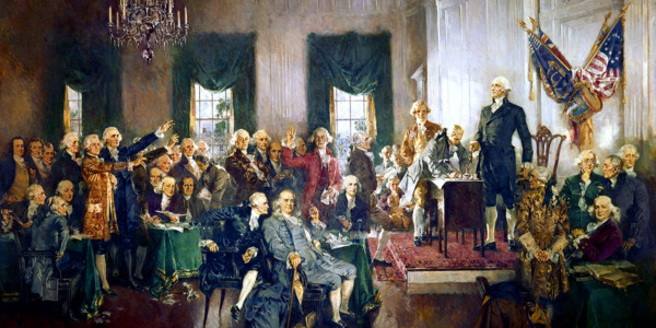 Scene at the Signing of the Constitution of the United States. Howard Chandler Christy