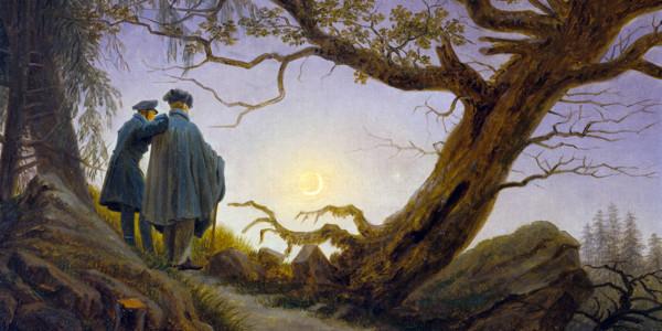 Two Men Contemplating the Moon. Caspar David Friedrich
