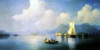 Lake Maggiore in the Evening. Ivan Aivazovsky