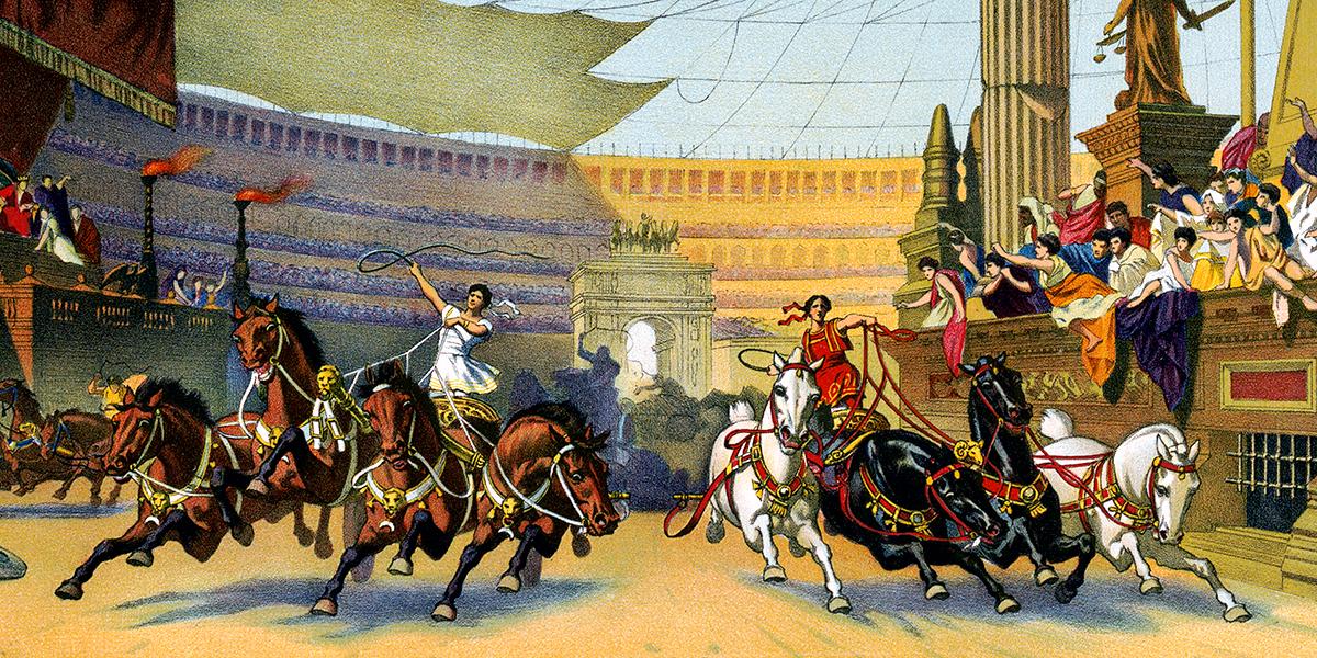 Particolare del manifesto dello spettacolo teatrale tratto dal romanzo Ben-Hur e messo in scena nel 1901.