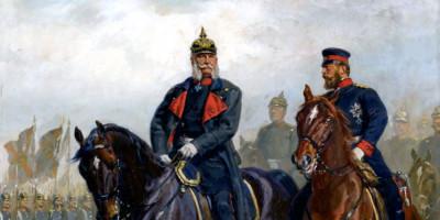 Kaiser Wilhelm I Und Kronprinz Friedrich Zu Pferde di Emil Hünten
