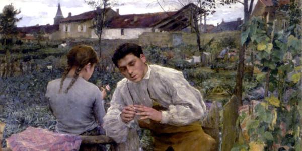 """""""L'Amour au village"""" di Jules Bastien-Lepage"""