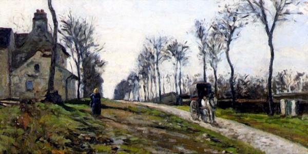 Road to Louveciennes. Camille Pissarro