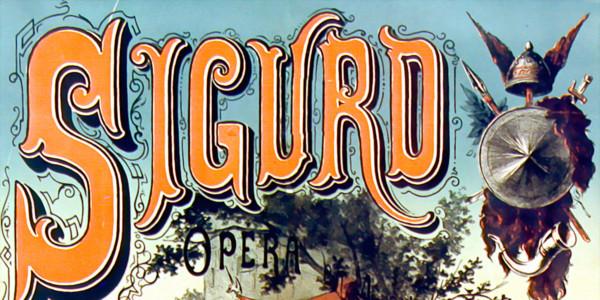 Ernest Reyer - Sigurd - poster 1880