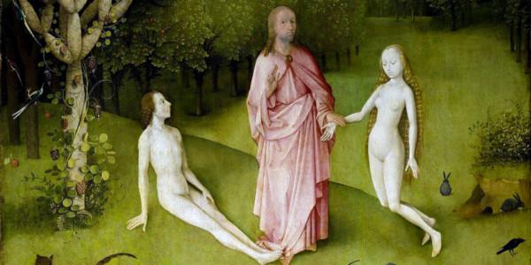 Il giardino dell'Eden in un dipinto di Hieronymus Bosch