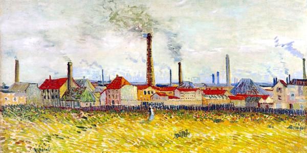 Factories at Asnieres, Seen from the Quai de Clichy. Vincent van Gogh