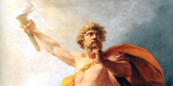 """Prometheus Brings Fire to Mankind"" di Heinrich Füger"