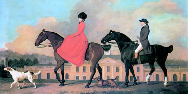 John and Sophia Musters riding at Colwick Hall. George Stubbs