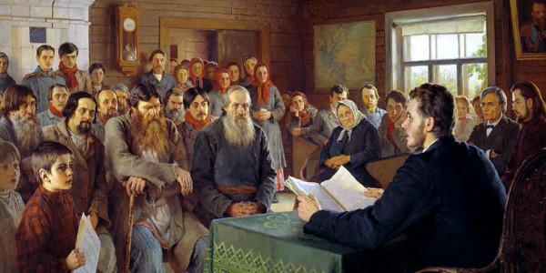 Sunday Reading at Country School. Nikolay Bogdanov-Belsky