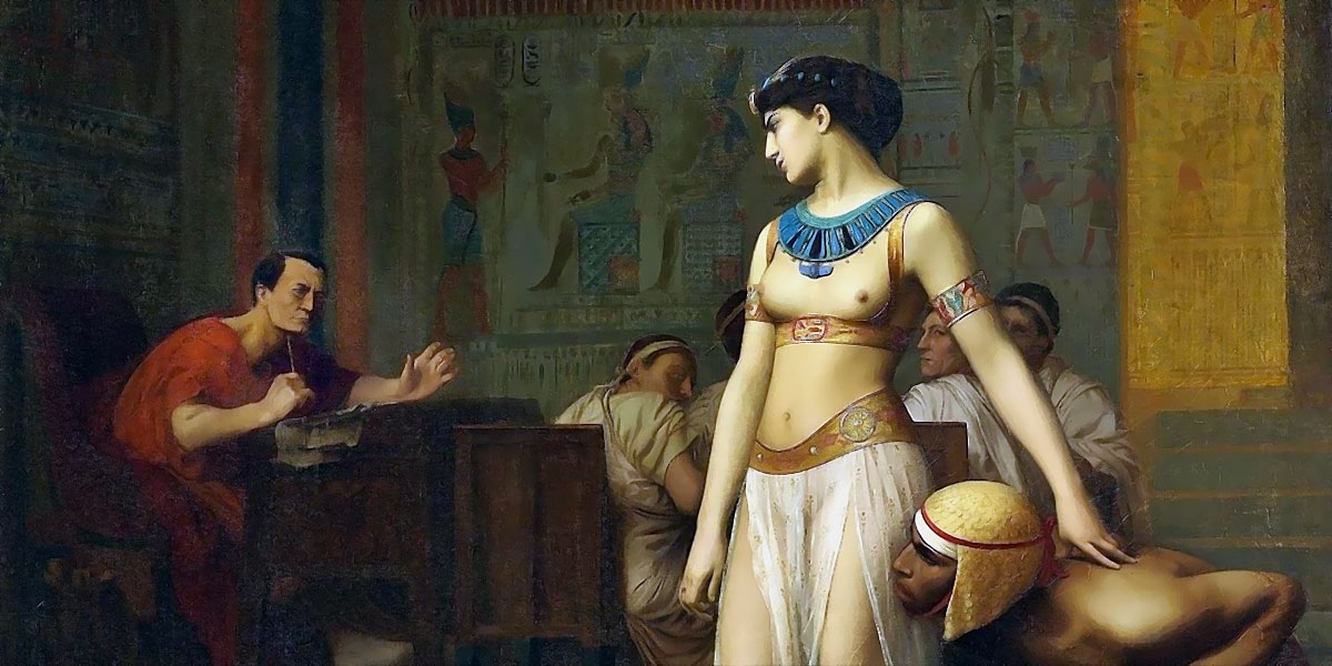 Cleopatra and Caesar by Jean-Leon Gerome