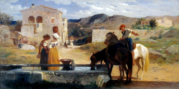 Italian Landscape. George Hemming Mason