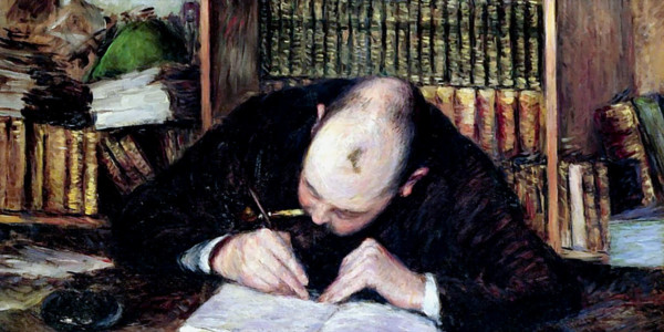 Portrait Of A Man Writing In His Study. Gustave Caillebotte