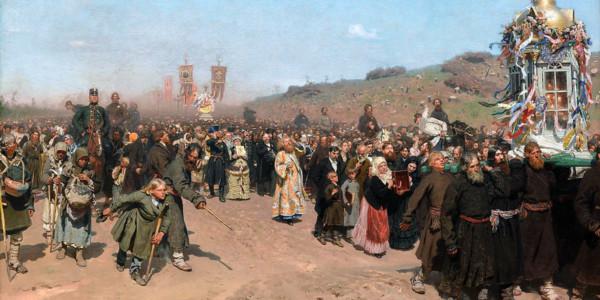 Processione di Pasqua (nella regione di Kursk). Il'ja Efimovič Repin
