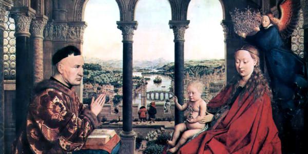 Madonna del cancelliere Rolin. Jan van Eyck