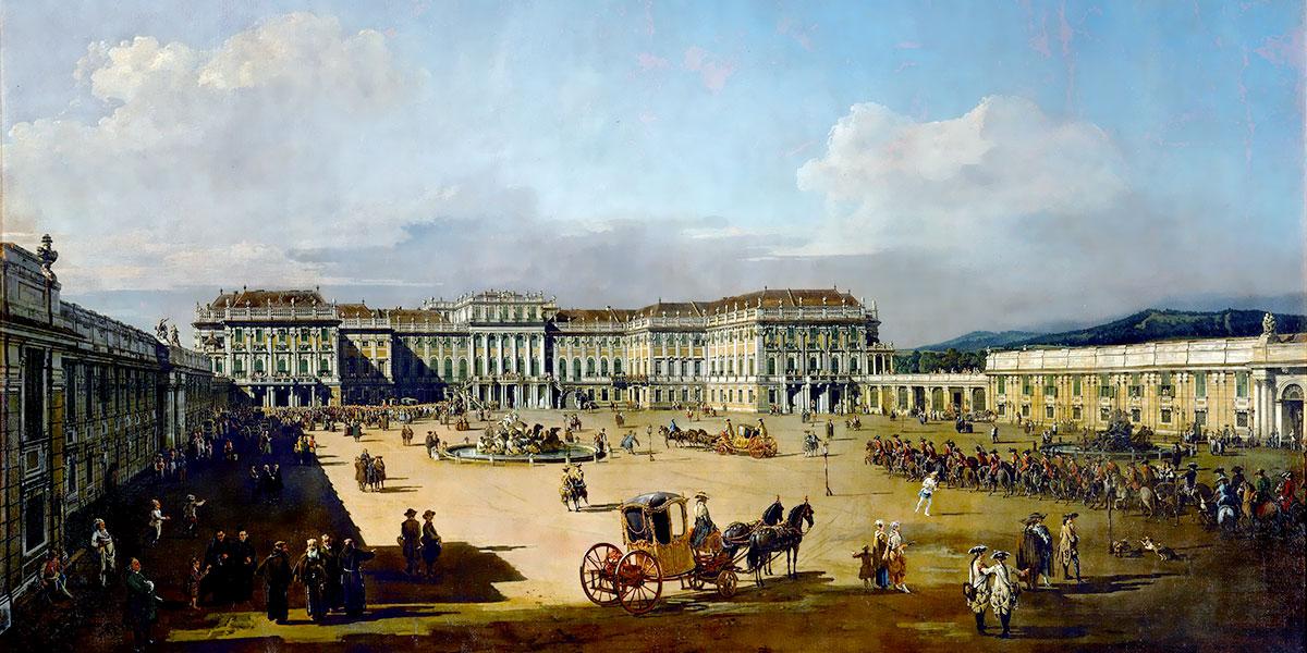 Schönbrunn di Bernardo Bellotto, 1758