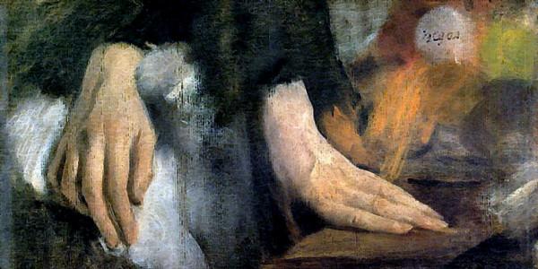 Edgar Degas. Study of Hands. 1860