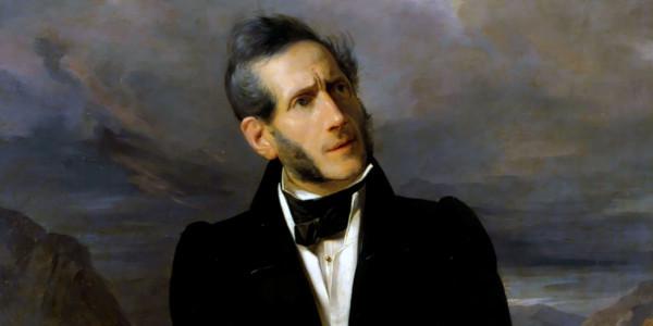 Alessandro Manzoni a 50 anni. Ritratto del pittore Giuseppe Molteni (1800–1867)