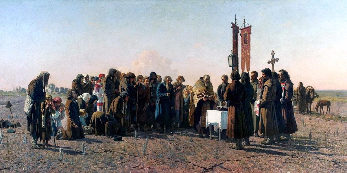 A prayer in time of drought. Grigoriy Myasoyedov