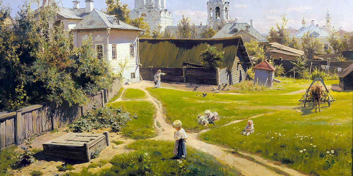 Cortiletto moscovita di Vasilij Dmitrievič Polenov, 1878