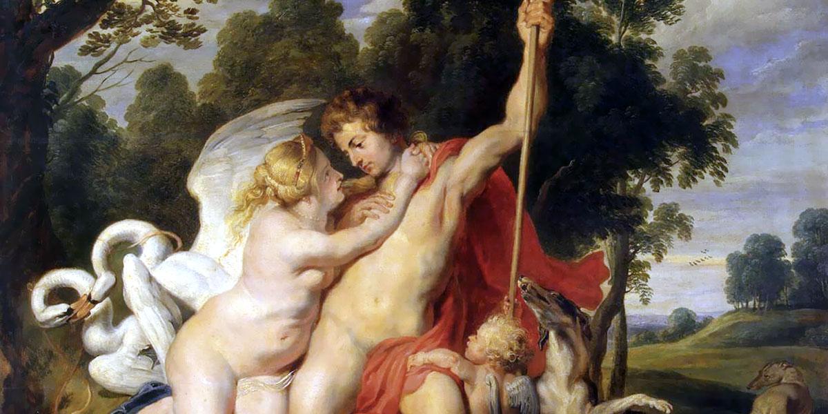 Venus and Adonis. Peter Paul Rubens