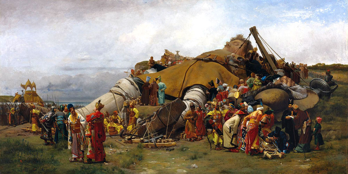 Gulliver and the Liliputans. Jean-Georges Vibert