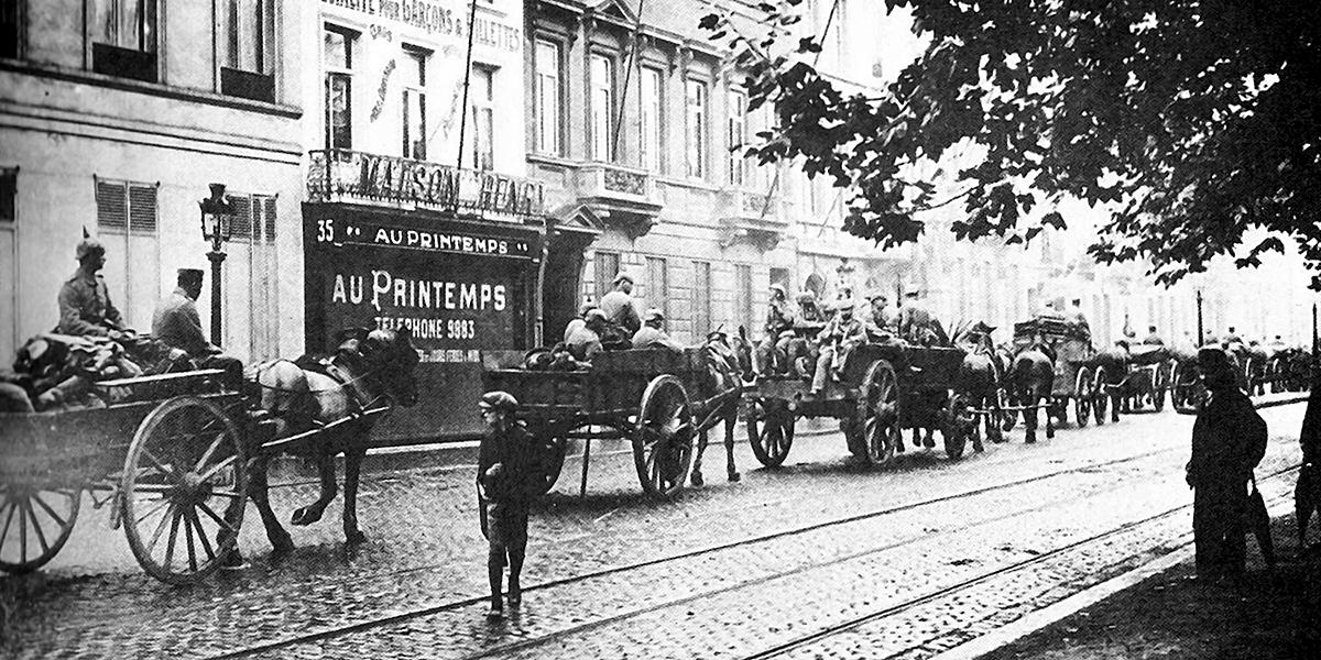 Le colonne tedesche entrano a Bruxelles il 20 agosto 1914