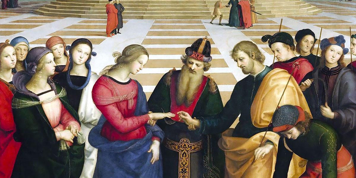 Raffaello Sanzio. Sposalizio della Vergine (1504), Pinacoteca di Brera, Milano