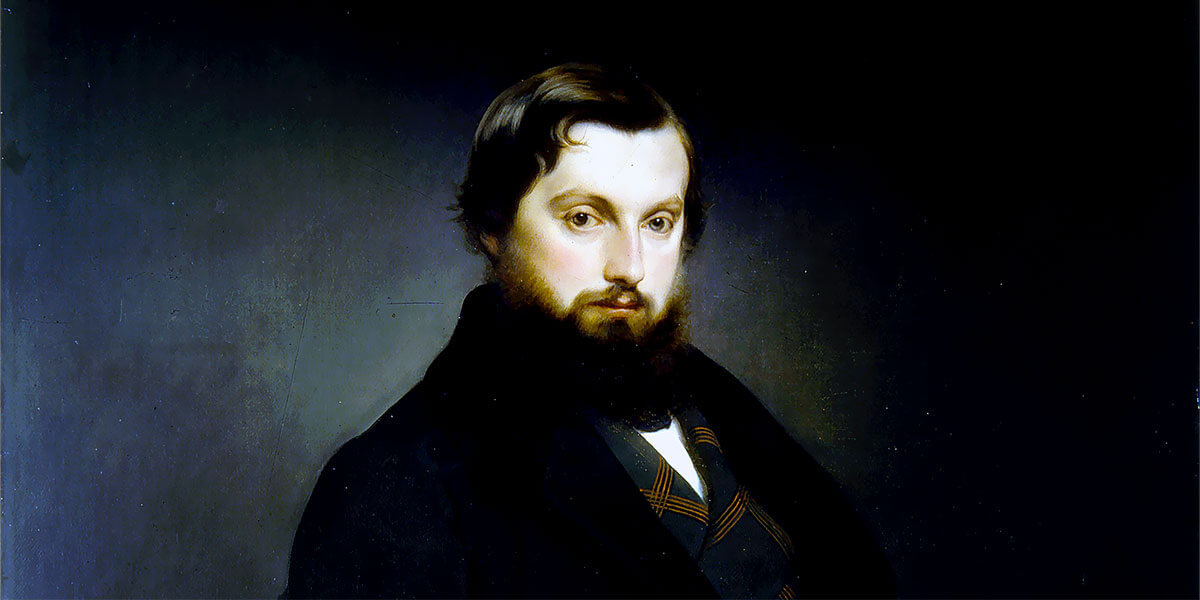 Ritratto del conte Gian Giacomo Poldi Pezzoli ad opera di Francesco Hayez, 1851