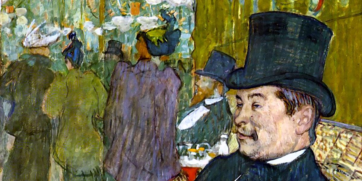 M. Delaporte at the Jardin de Paris. Henri de Toulouse-Lautrec