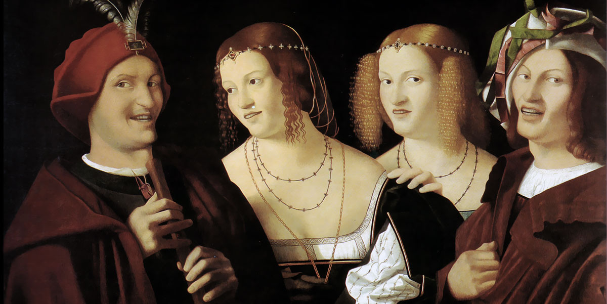 Quattro Personaggi Che Ridono. Bartolomeo Veneto
