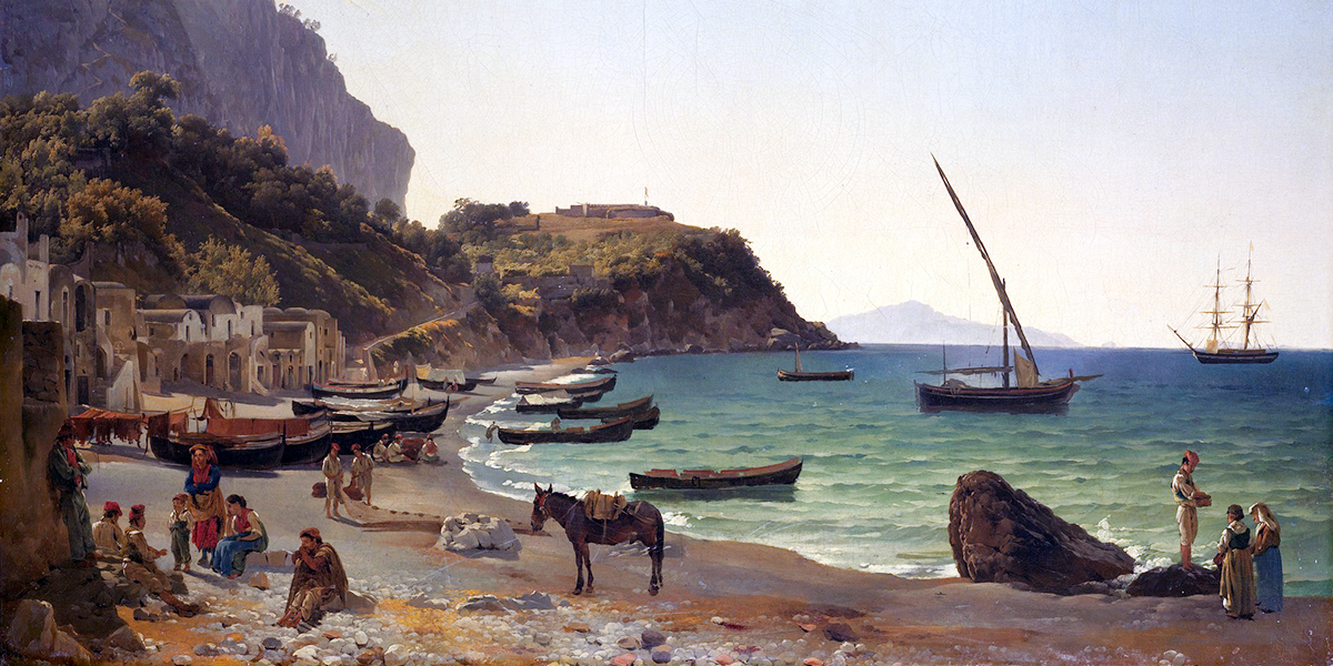 The Large harbor on Capri island. Sylvester Shchedrin