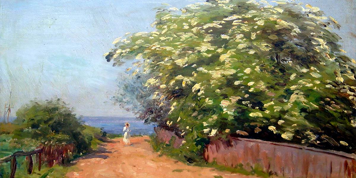 Landscape at Hornbæk, Denmark. Godfred Christensen